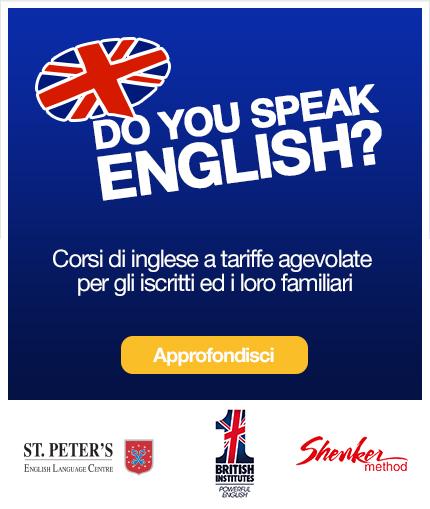 Corsi di Inglese per gli iscritti ed i loro familiari