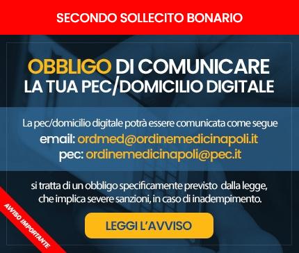 Avviso Importante - Obbligo di comunicare PEC / Domicilio Digitale